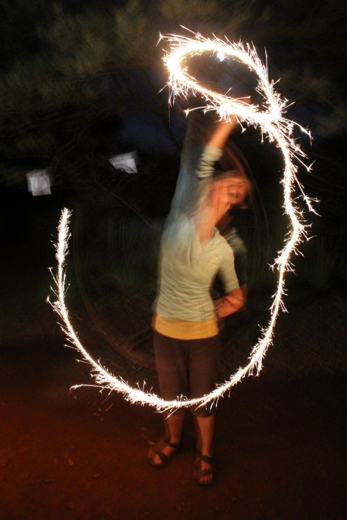 Sparkly circle